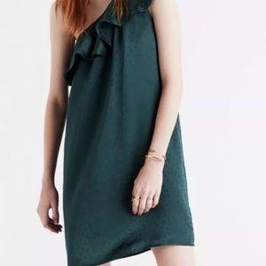 Madewell Silk Dance Floor Shoulder Dress
